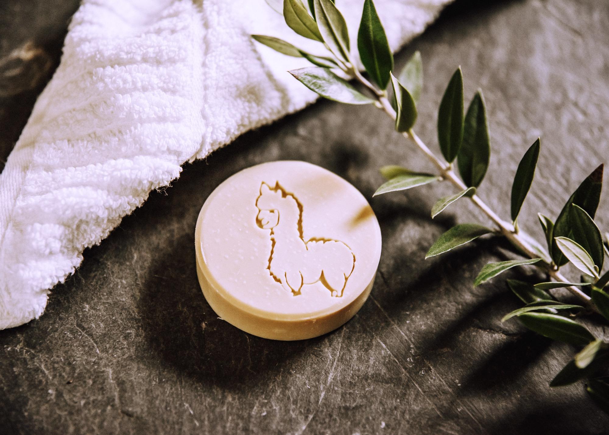 Alpaka Seife mit Olivenöl