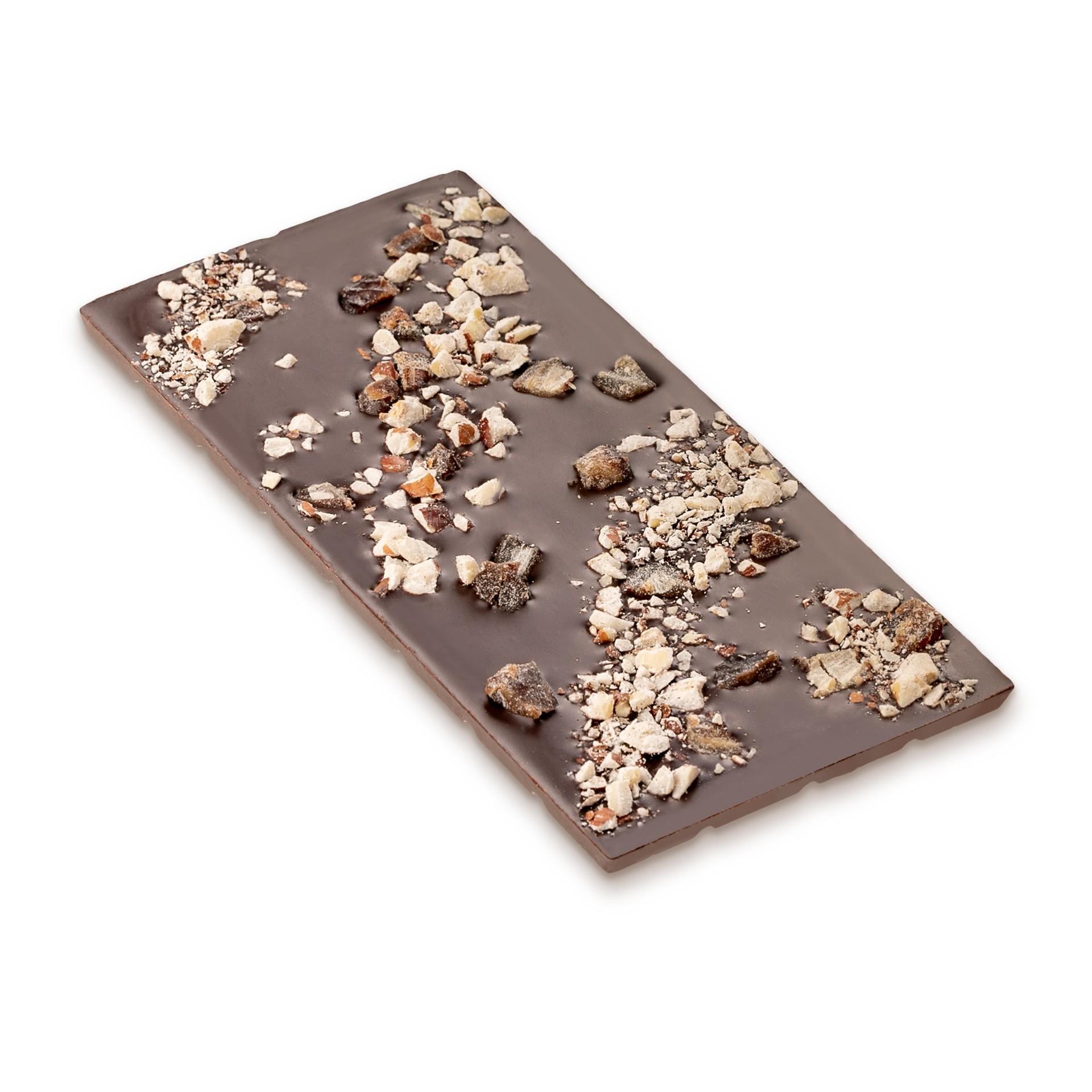 Dattel Schokolade mit Haselnüssen 68% Kakao
