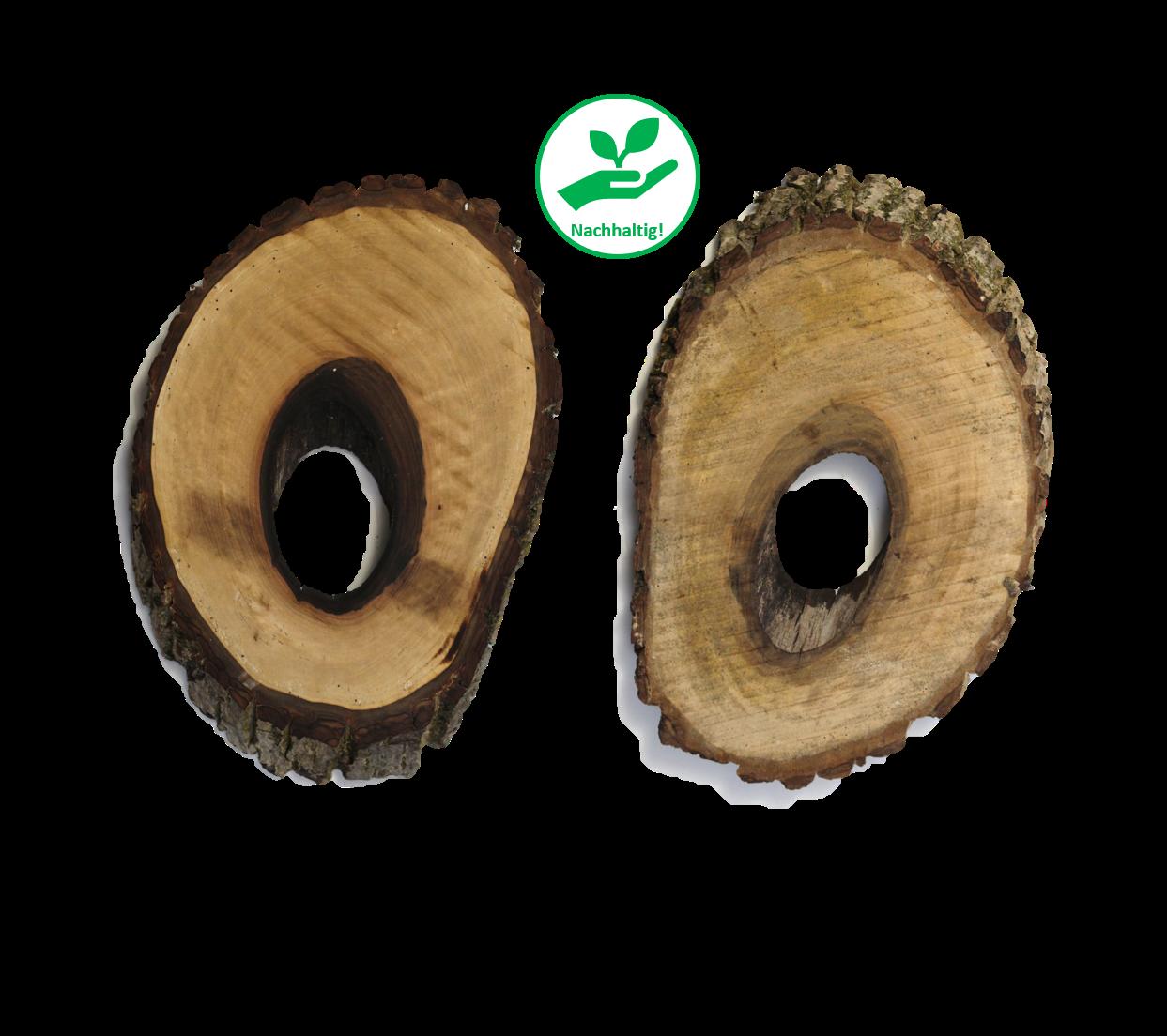 Unikat - Dekobrett klein Walnussbaum