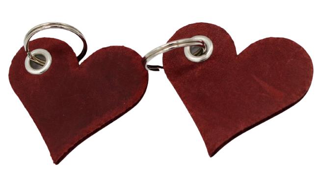 Schlüsselanhänger Herzform