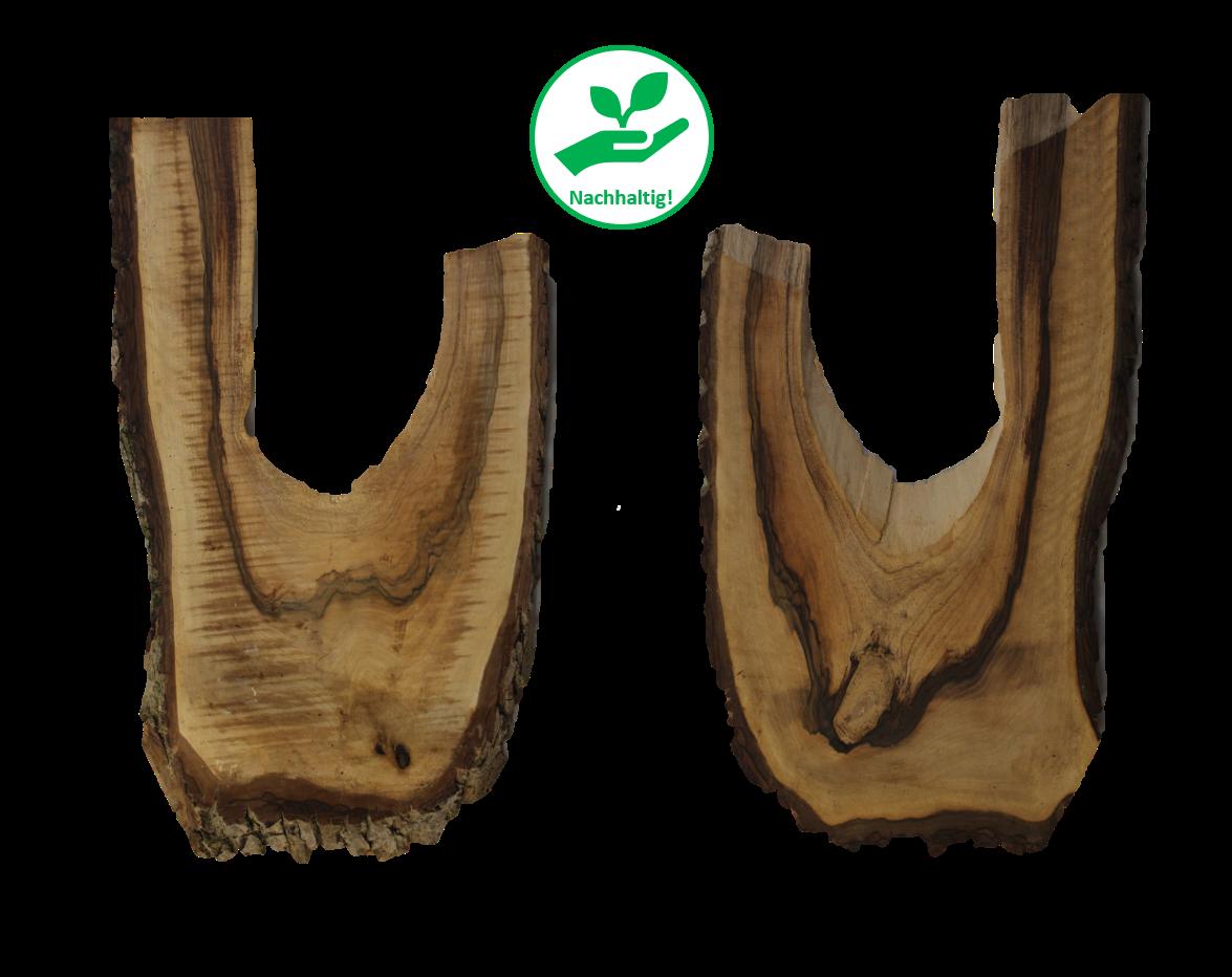 Unikat - Dekobrett groß Walnussbaum